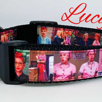 "Lucy dog collar handmade $12 all sizes adjustable buckle collar 1""wide or leash - Furrypetbeds"