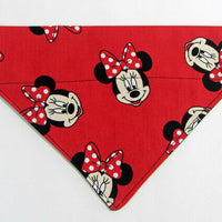 Minnie Mouse Dog Bandana Over the Collar bandana Dog collar bandana puppy Disney - Furrypetbeds