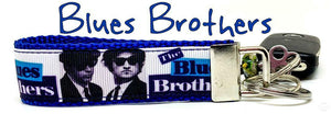 "Blues Brothers Key Fob Wristlet Keychain 1""wide Zipper pull Camera strap - Furrypetbeds"