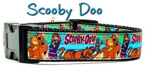 "Scooby Doo dog collar handmade adjustable buckle collar 1"" or 5/8""wide or leash - Furrypetbeds"