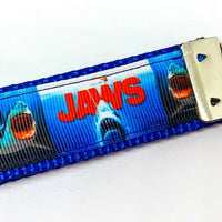"Jaws movie Key Fob Wristlet Keychain 1""wide Zipper pull Camera strap handmade - Furrypetbeds"