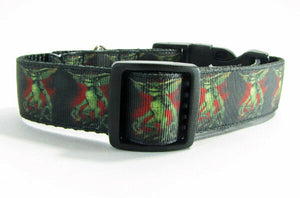 "Gremlins dog collar handmade adjustable buckle collar 1"" wide or leash horror - Furrypetbeds"