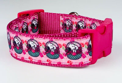 Easter Snoopy dog collar handmade 12.00 all sizes adjustable buckle collar 1