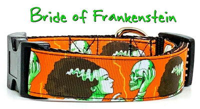 Bride of Frankenstein dog collar handmade adjustable buckle 1
