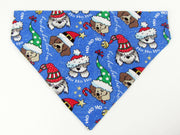 Christmas Dog Bandana Over the Collar dog bandana  Dog collar bandana - Furrypetbeds