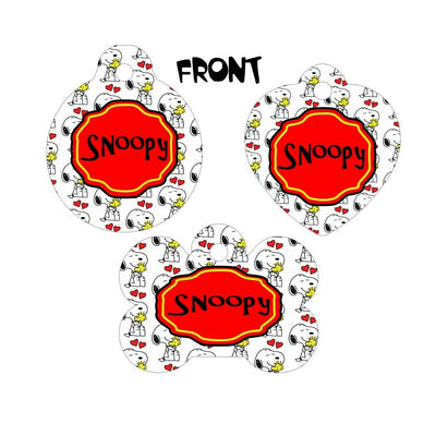 Pet ID Tag Snoopy Personalized Custom Double Sided Pet Tag name & number - Furrypetbeds