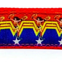 "Wonder Woman Key Fob Wristlet Keychain 1""wide Zipper pull Camera strap handmade"