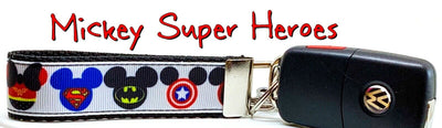 Mickey Super Hero's Key Fob Wristlet Keychain 1