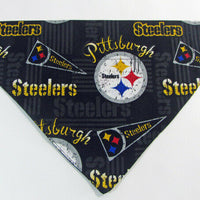 Steelers Dog Bandana Over the Collar dog bandana Dog collar bandana football - Furrypetbeds