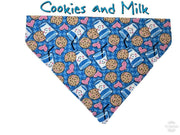 Cookies & Milk Dog Bandana Over the Collar bandana Dog collar bandana puppy - Furrypetbeds