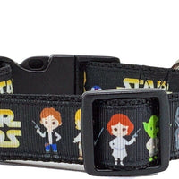 "Star Wars dog collar handmade adjustable buckle 1"" or 5/8"" wide or leash movie - Furrypetbeds"