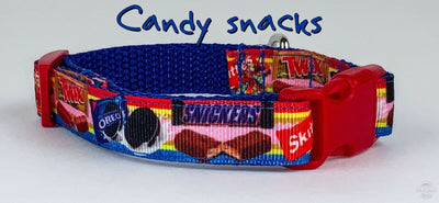 Candy dog collar handmade adjustable buckle collar 5/8