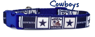 Dallas Cowboys dog collar handmade adjustable buckle collar 5/8