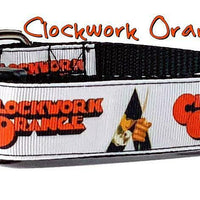 "Clockwork Orange dog collar 12.00 all sizes adjustable buckle collar 1"" wide - Furrypetbeds"