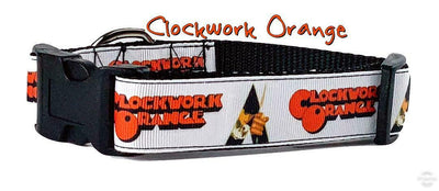 Clockwork Orange dog collar 12.00 all sizes adjustable buckle collar 1