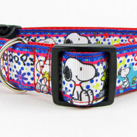 "Snoopy dog collar 12.00 all sizes adjustable buckle collar 1"" wide or leash $12 - Furrypetbeds"