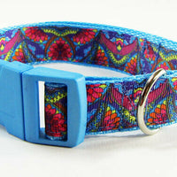 "Paisley dog collar handmade $12.00  adjustable buckle collar 1"" wide or leash - Furrypetbeds"