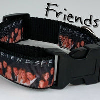 "Friends dog collar Handmade adjustable buckle collar 1"" wide or leash TV show - Furrypetbeds"