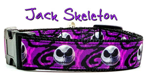 "Nightmare Before Christmas dog collar handmade adjustable buckle collar 1""wide"