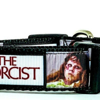"The Exorcist dog collar handmade adjustable buckle 1""or 5/8"" wide or leash movie"