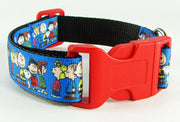"Peanut dog collar handmade 12.00 all sizes adjustable buckle collar 1""wide leash - Furrypetbeds"