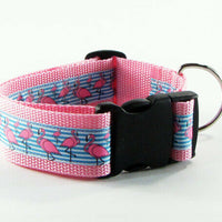"Roses dog collar handmade adjustable buckle collar 1"" wide pink or leash $12 - Furrypetbeds"