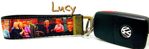 "I Love Lucy Key Fob Wristlet Keychain 1""wide Zipper pull Camera strap - Furrypetbeds"