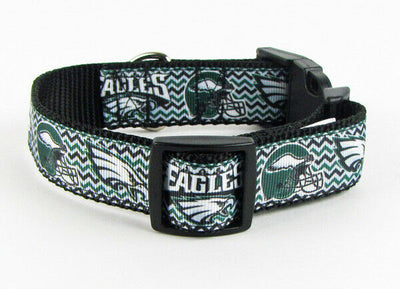 Eagles dog collar handmade adjustable buckle collar football 1
