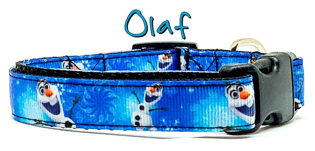 "Frozen Olaf dog collar handmade adjustable buckle collar 5/8"" wide Disney - Furrypetbeds"
