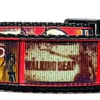 "The Walking Dead dog collar 12.00 adjustable buckle collar 1""wide or leash TV - Furrypetbeds"