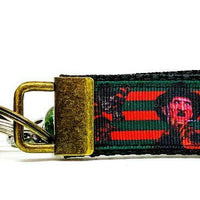 "Freddy Krueger Key Fob Wristlet Keychain 1""wide Zipper pull Camera strap horror"