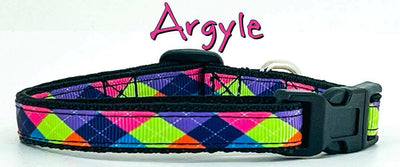 Argyle cat or small dog collar 1/2