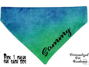 Personalized Dog Bandanas over the collar pet bandana Tie Dye 8 colors to pick - Furrypetbeds