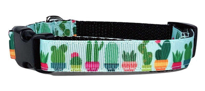 Cactus dog collar handmade adjustable buckle collar 5/8