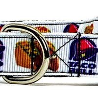 "Taco Bell Dog collar handmade adjustable buckle 5/8"" wide or leash small dog"