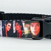 "Michael dog collar handmade adjustable buckle collar 5/8"" wide or leash fabric - Furrypetbeds"