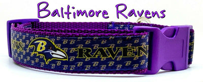 Baltimore Ravens dog collar handmade adjustable buckle collar football 1