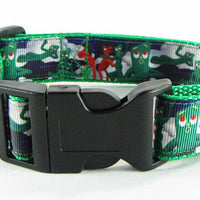 "Gumby dog collar handmade 12.00 all sizes adjustable,buckle collar 1"" wide leash - Furrypetbeds"