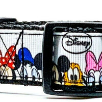 "Disney characters dog collar handmade adjustable buckle collar 1""wide  Disney - Furrypetbeds"