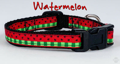 Watermelon cat & small dog collar 1/2
