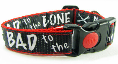 Bad To The Bone dog collar handmade adjustable buckle 1