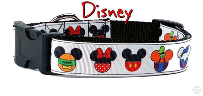 Disney Mouse ears dog collar handmade adjustable buckle collar 1