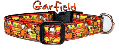 Garfield dog collar handmade adjustable buckle collar 5/8