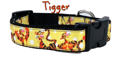 Tigger Winnie the Poo dog collar Handmade adjustable buckle collar 1