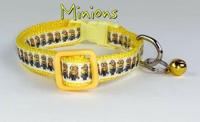 Minions cat or small dog collar 1/2