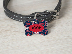 Pet ID Tag Boston Red Sox MLB Personalized Custom Double Sided Pet Tag w/name - Furrypetbeds