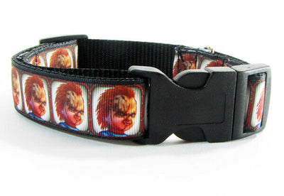 Chucky dog collar handmade 12.00 all sizes adjustable buckle collar 1