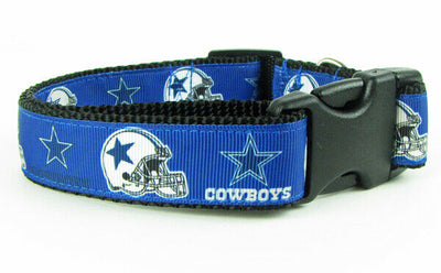 Dallas Cowboys dog collar handmade adjustable buckle collar football 1