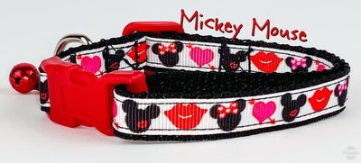Mickey Mouse cat or small dog collar 1/2
