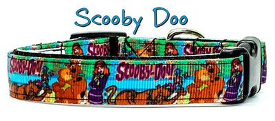 Scooby Doo dog collar handmade adjustable buckle collar 5/8